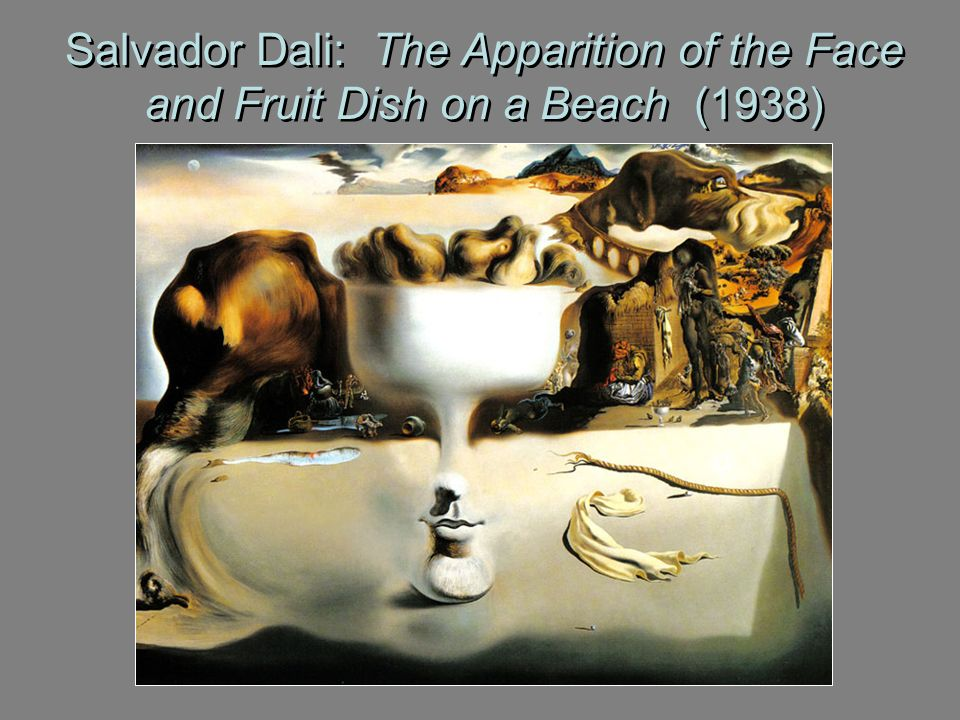 Salvador Dali: The Apparition of the Face and Fruit Dish on a Beach (1938)
