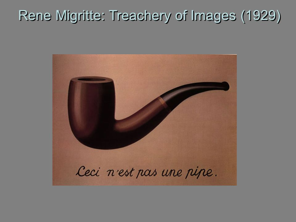Rene Migritte: Treachery of Images (1929)