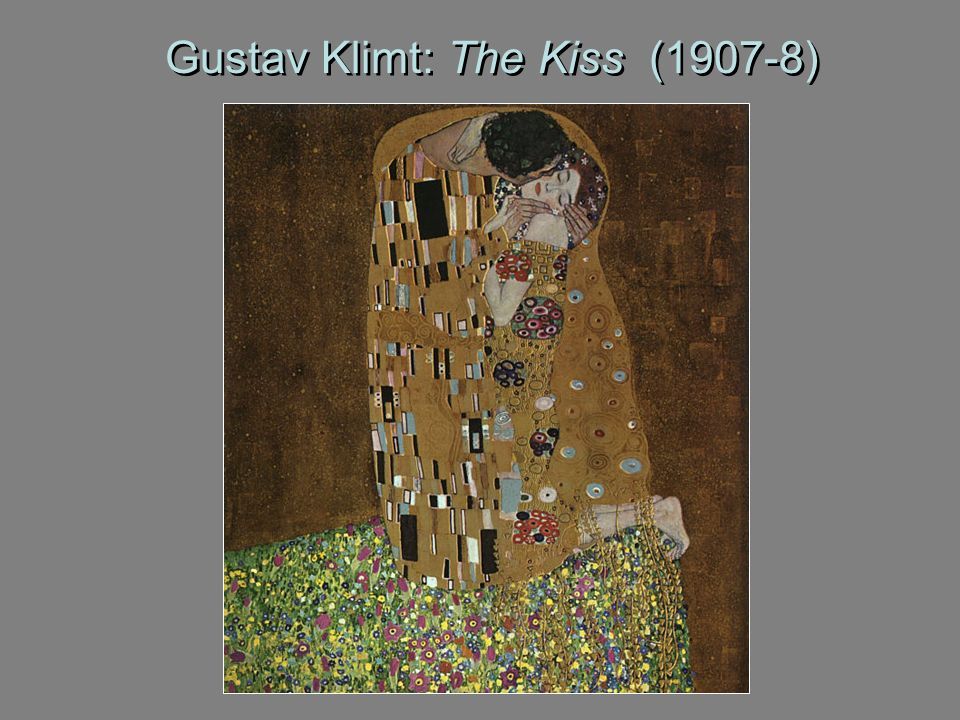 Gustav Klimt: The Kiss (1907-8)
