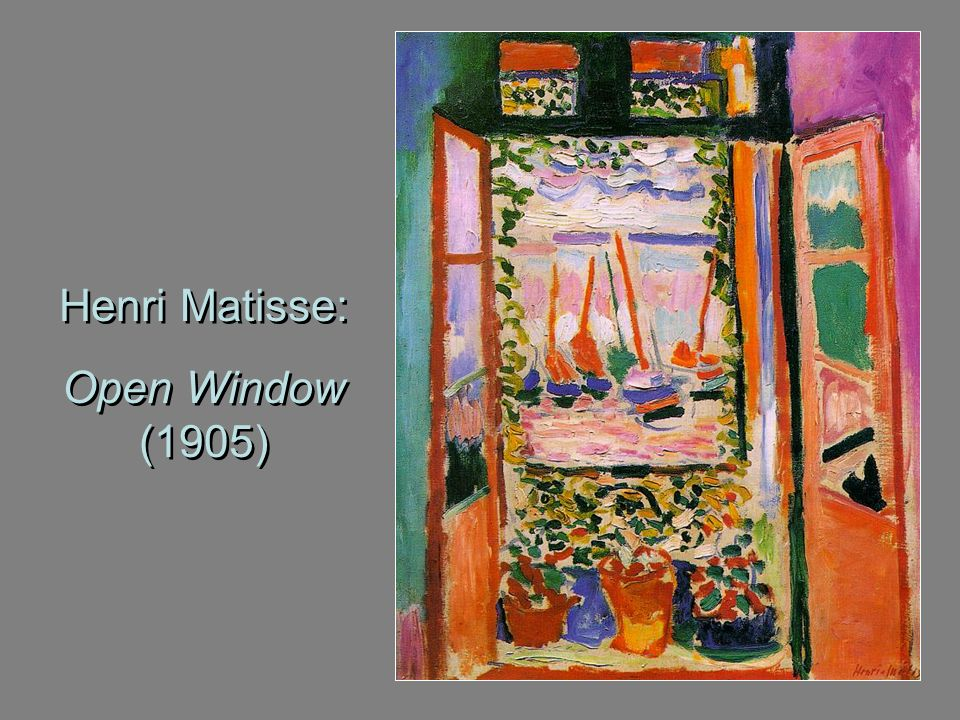 Henri Matisse: Open Window (1905)