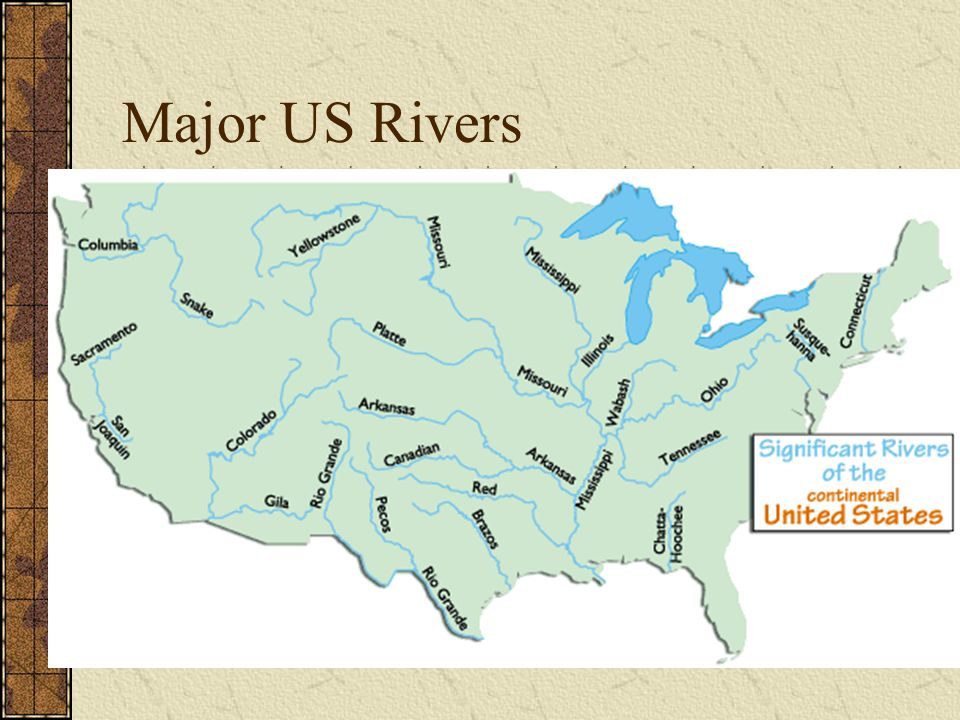 Map Of Major Rivers In The Us A United States Map Showing The - Map of major rivers in us