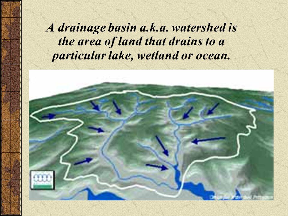 A drainage basin a.k.a.
