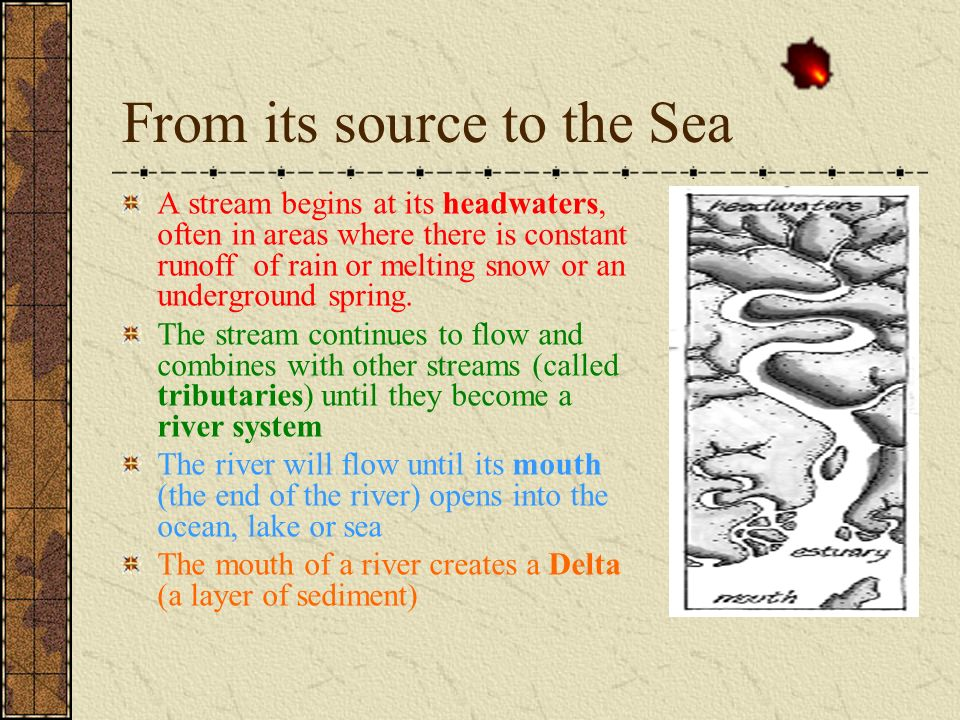 From its source to the Sea