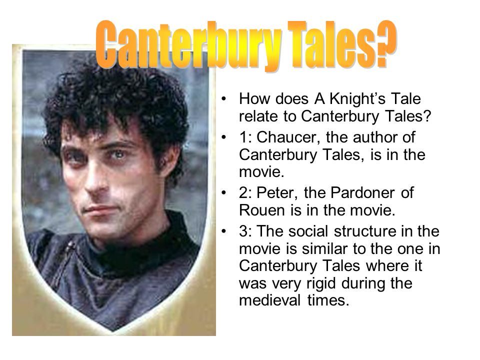 Canterbury Tales How does A Knight's Tale relate to Canterbury Tales