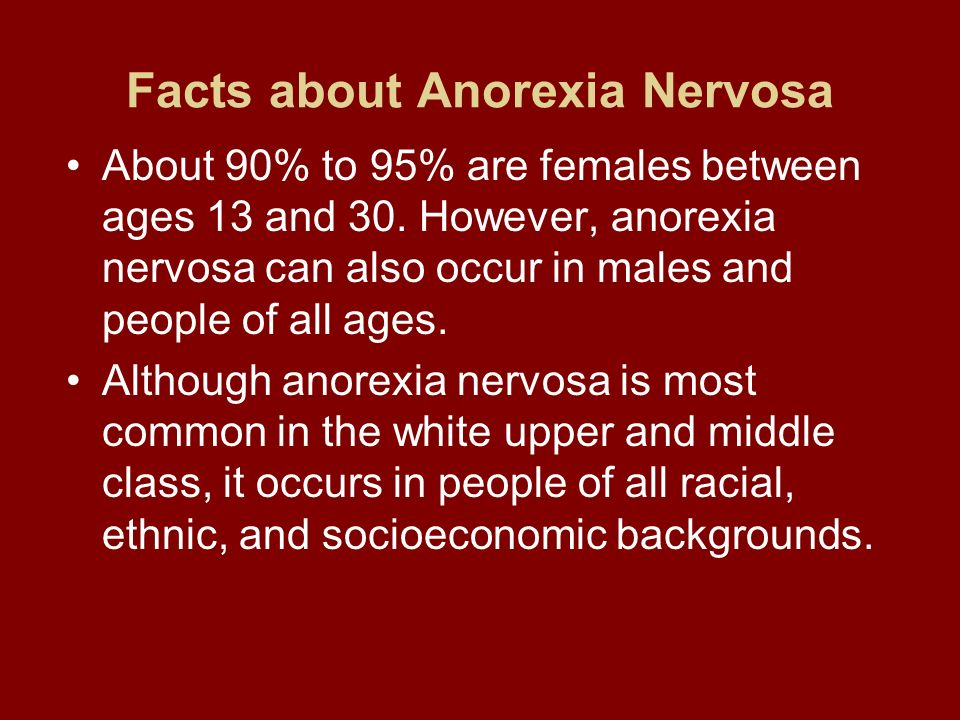 Facts about Anorexia Nervosa