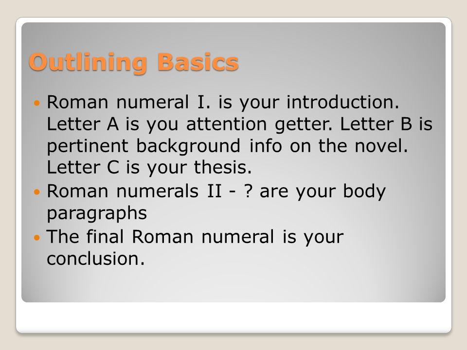 Outlining Basics