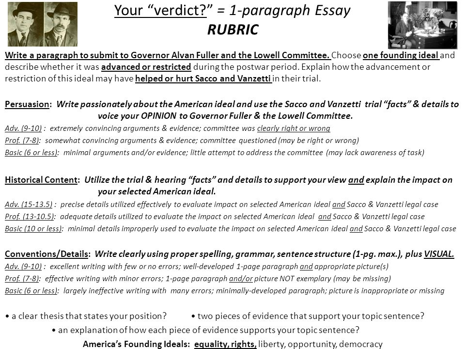 "week ~ unit iii ""exit strategy"" s great  your verdict 1 paragraph essay rubric"