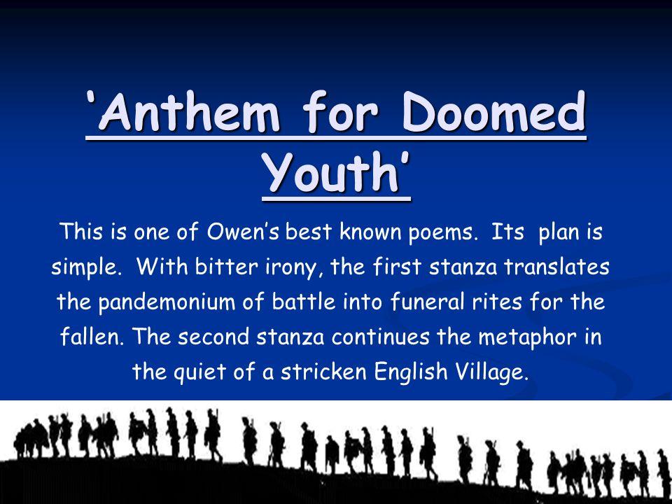 Anthem For Doomed Youth Ppt Video Online Download