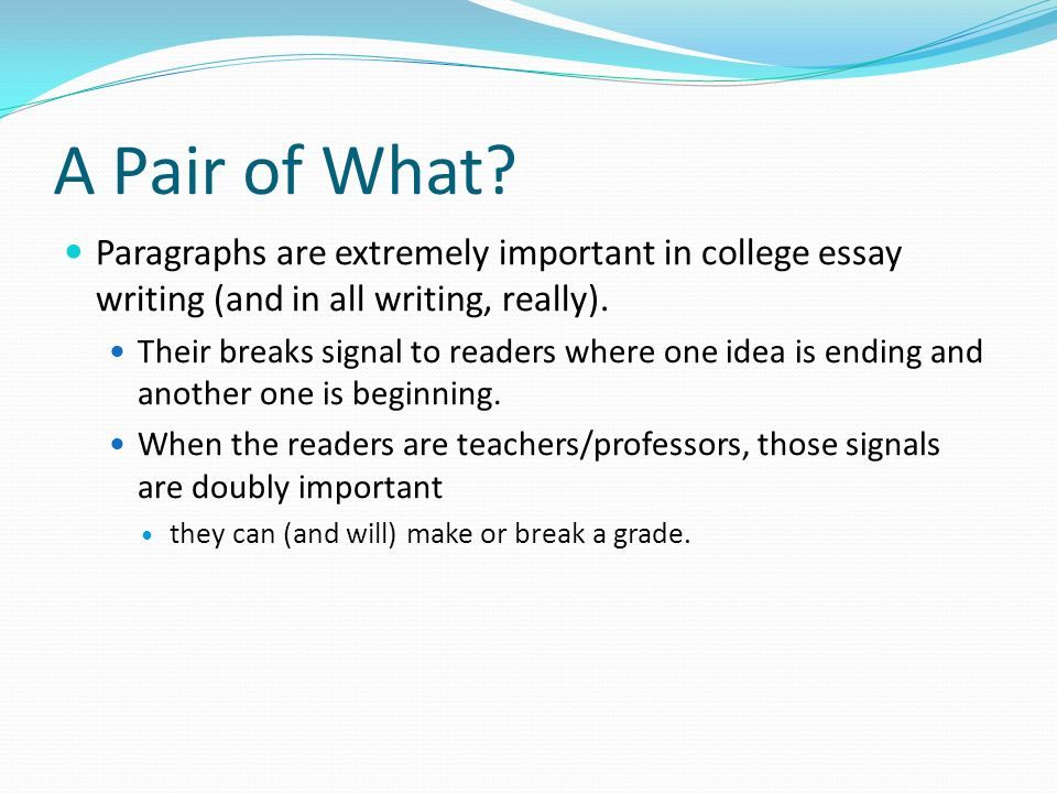 Essay about why college is important