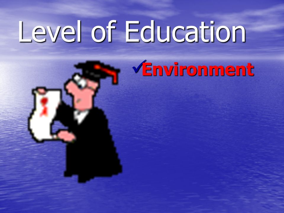 Level of Education Environment