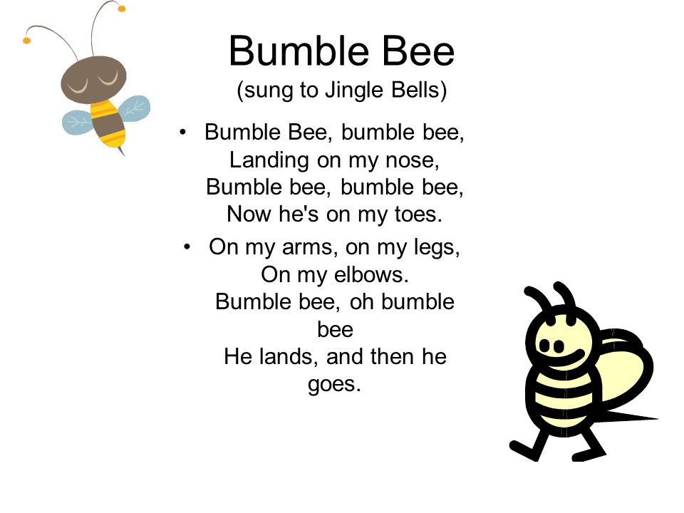 Bumble Bee (sung to Jingle Bells)