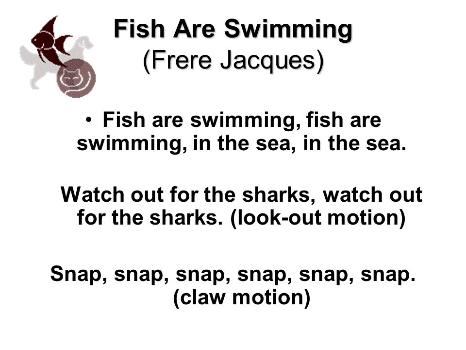 Fish Are Swimming (Frere Jacques)