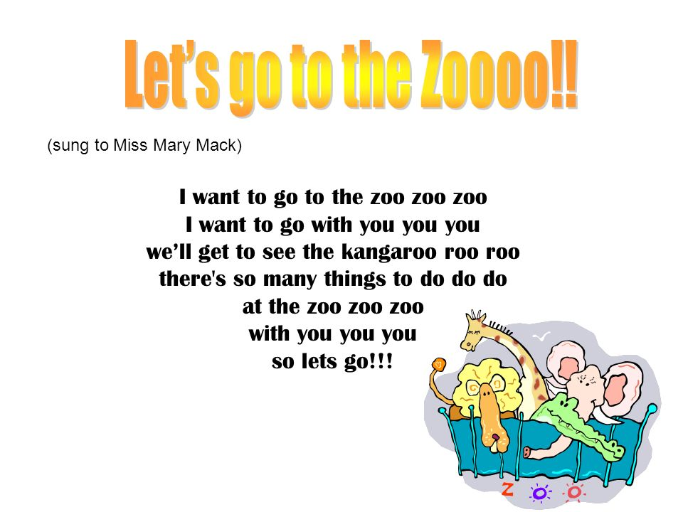 Let's go to the Zoooo!! I want to go to the zoo zoo zoo