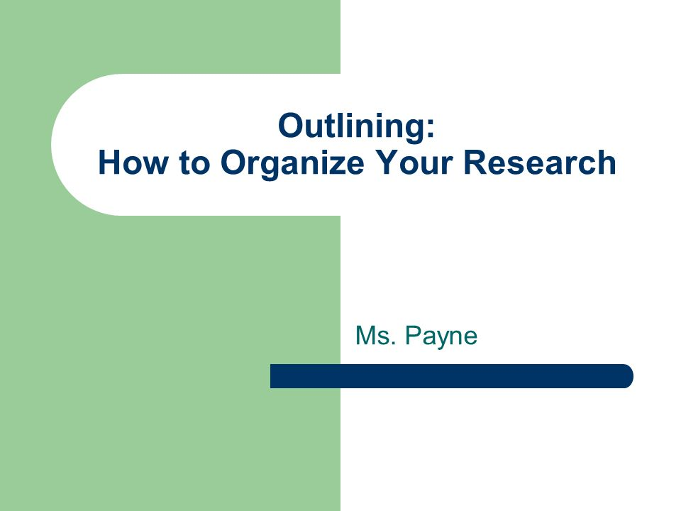 outline of an academic research paper Writing a research manuscript is an intimidating process for many novice writers in the sciences one of the stumbling blocks is the beginning of the process and creating the first draft this paper presents guidelines on how to initiate the writing process and draft each section of a research.