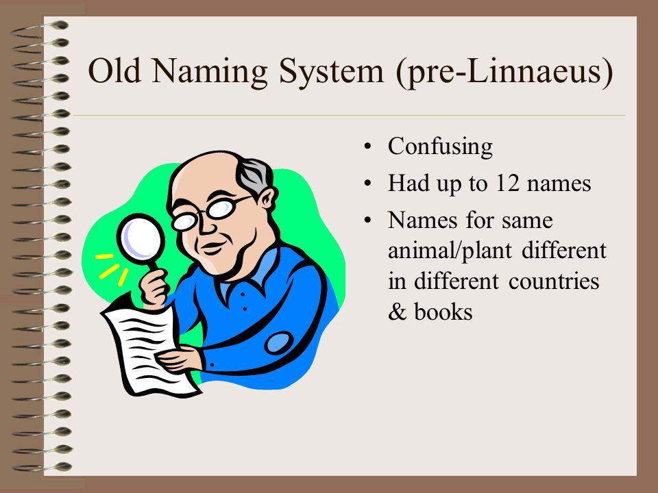 Old Naming System (pre-Linnaeus)