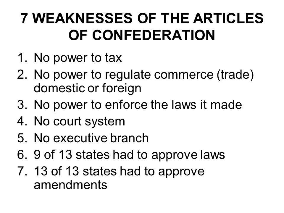Strengths weaknesses articles confederation pictures to pin on chapter 2 government ppt download 960x720 strengths and weaknesses of articles confederation 480x360 publicscrutiny Choice Image