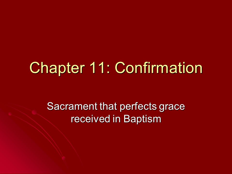 Chapter 11: Confirmation