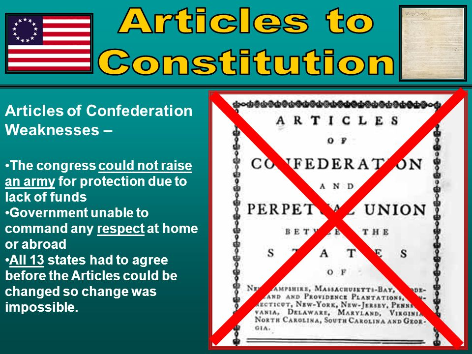 the articles of confederation and the constitution essay The preamble to the articles of confederation, along with the first three articles, was short and so easily included into a single essay article 4 is longer and needs its own this section of the articles bears some striking similarities to the constitution along with some important differences.