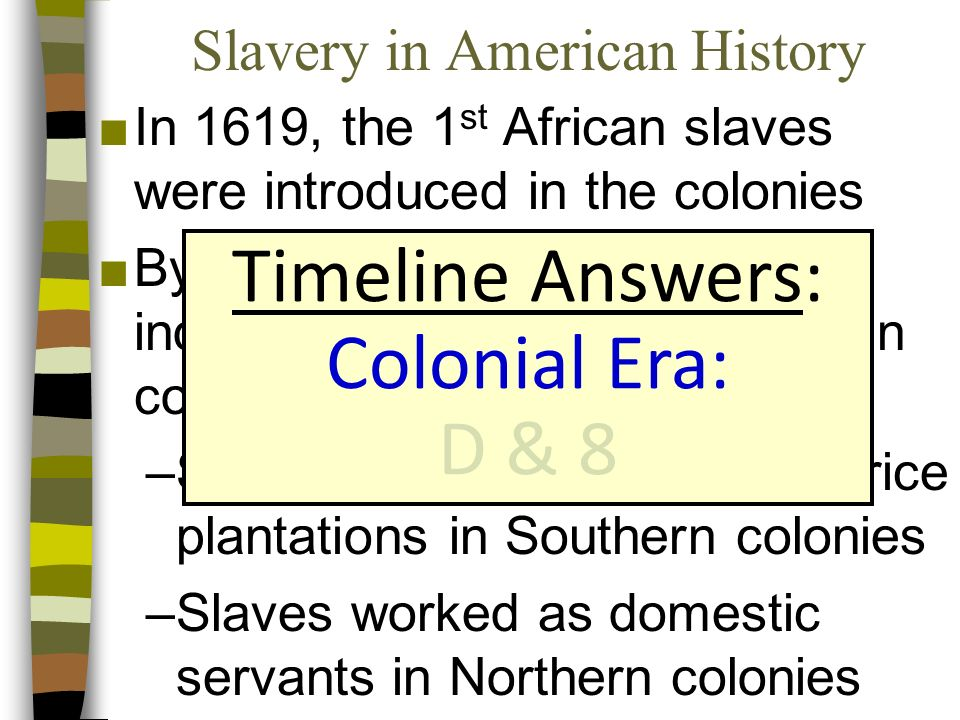 african american history timeline 1619 Timeline of african-american history jump to navigation jump to search  it included an unknown number of african slaves 17th century 1619.