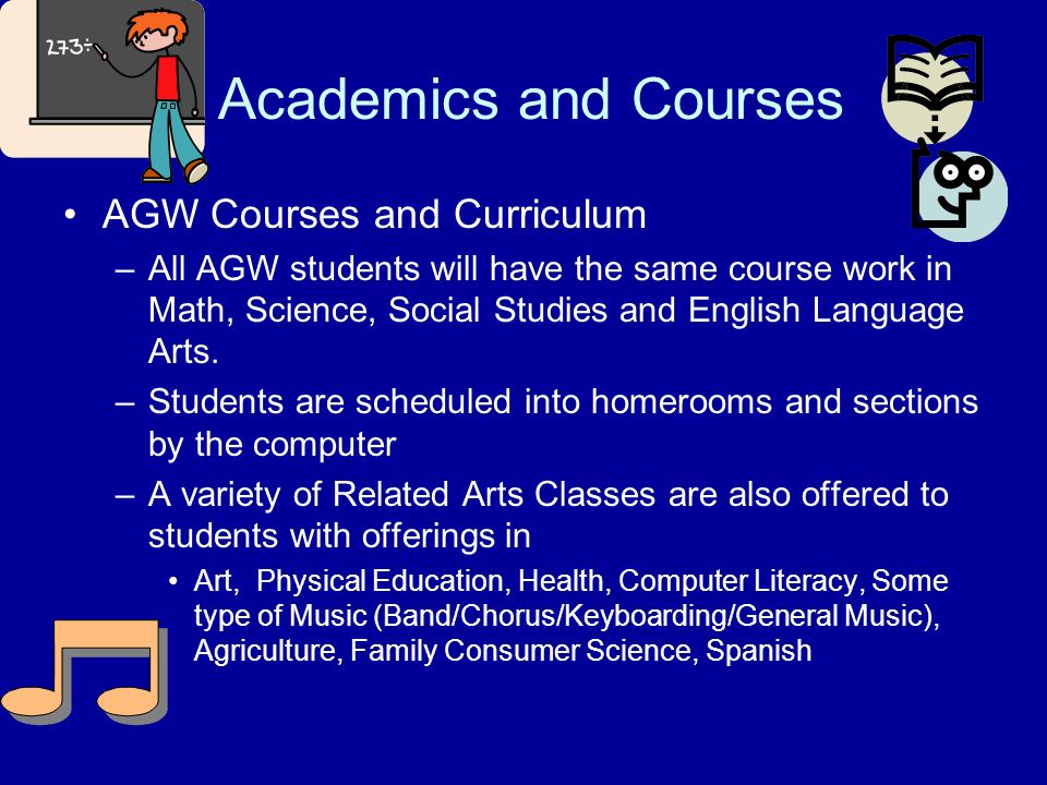 Academics and Courses AGW Courses and Curriculum