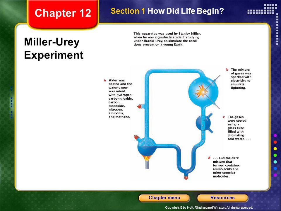 Miller-Urey Experiment