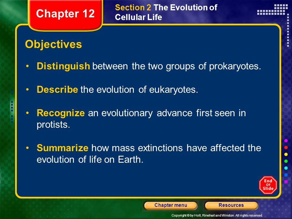 Section 2 The Evolution of Cellular Life