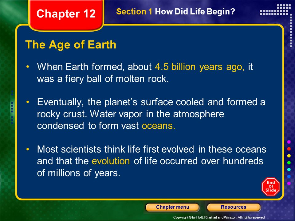 Chapter 12 The Age of Earth