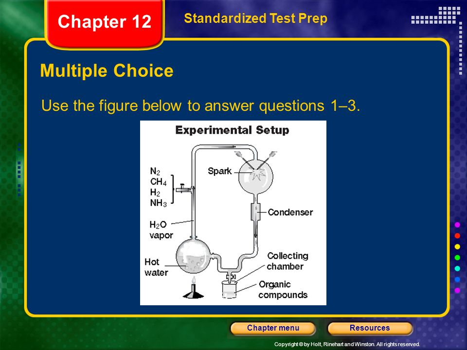 Chapter 12 Multiple Choice