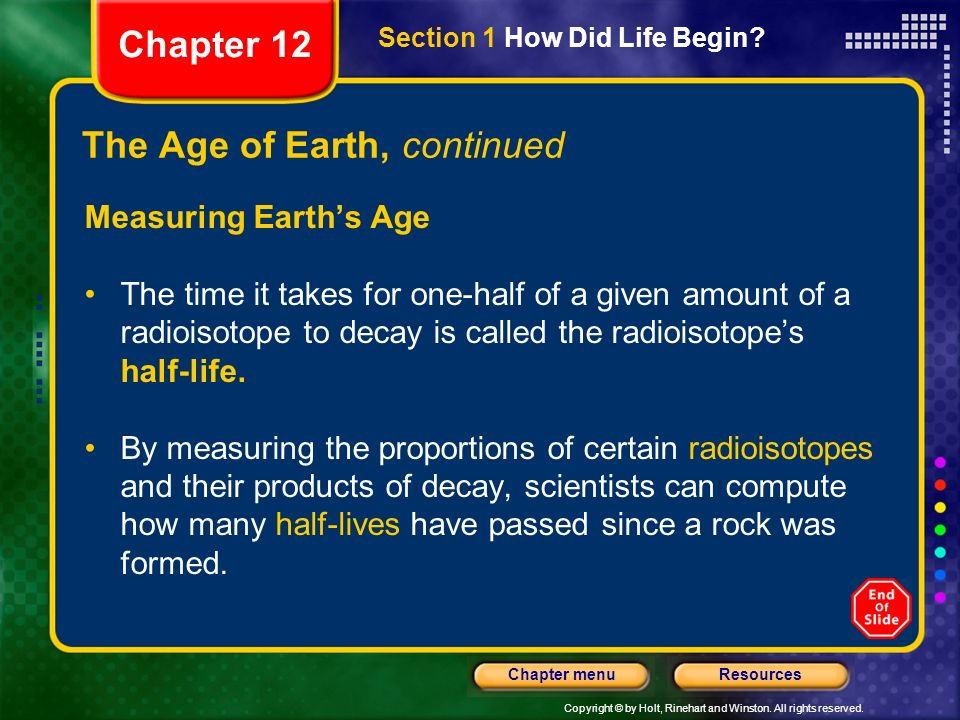 The Age of Earth, continued