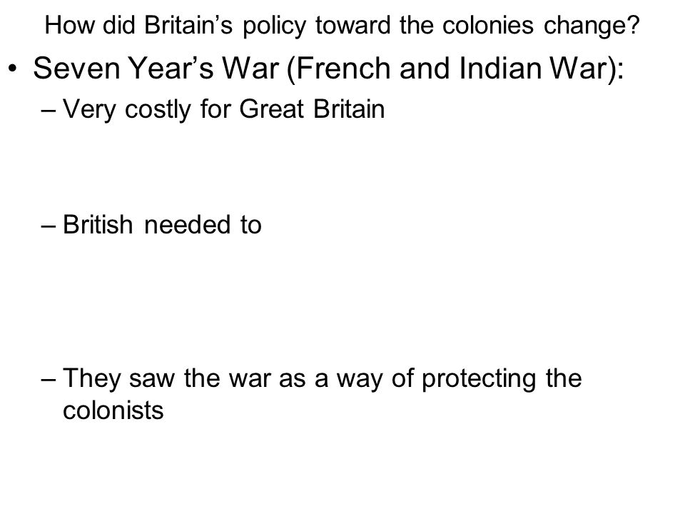 in what ways did the french and indian war Summary: the french and indian war chapter 7  war between france and  britain  indians liked the french because they traded but did not settle.