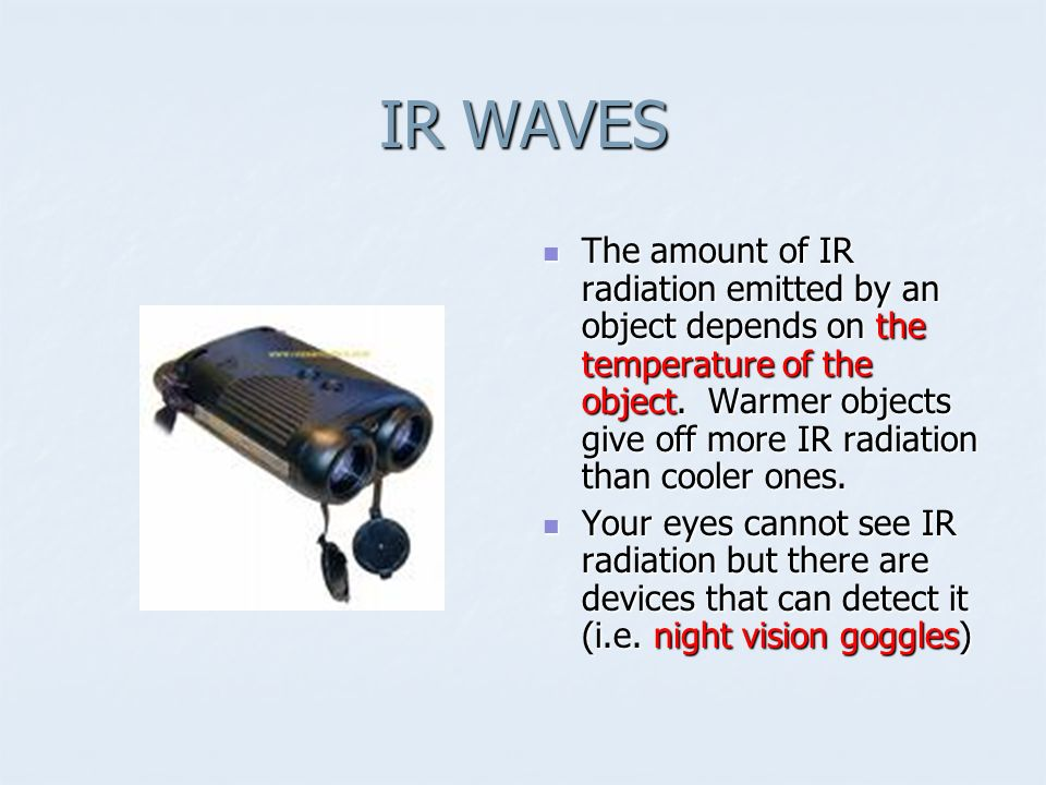 IR WAVES