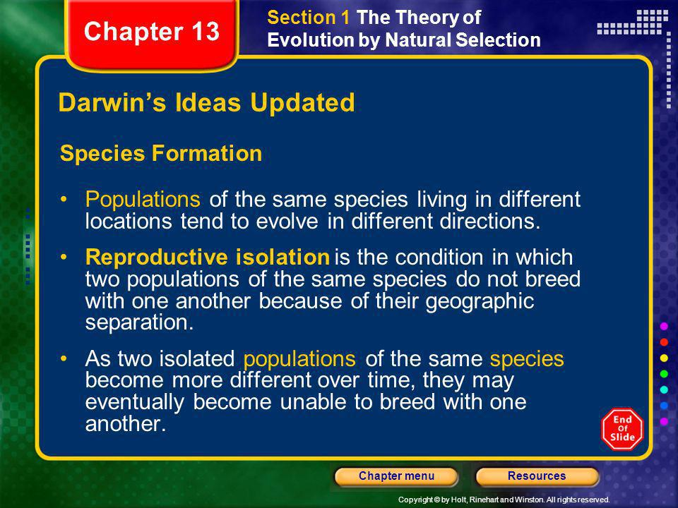 Darwin's Ideas Updated