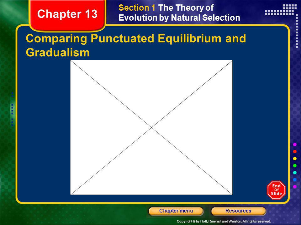 Comparing Punctuated Equilibrium and Gradualism