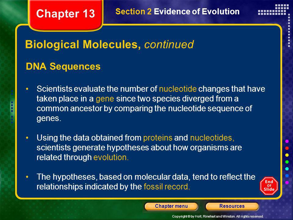 Biological Molecules, continued