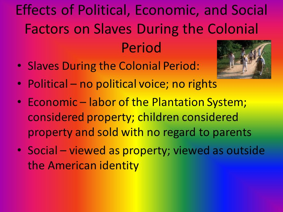 slavery and political factors A nation divided: the political climate of 1850s america by the 1850s the united states had become a nation polarized by specific regional identities the south held a pro-slavery identity that supported the expansion of slavery into western territories, while the north largely held abolitionist sentiments and opposed the institution's.
