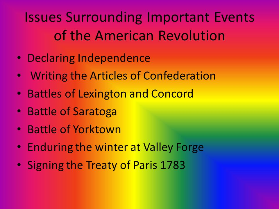 The American Revolution was an Inevitable Event Essay Sample