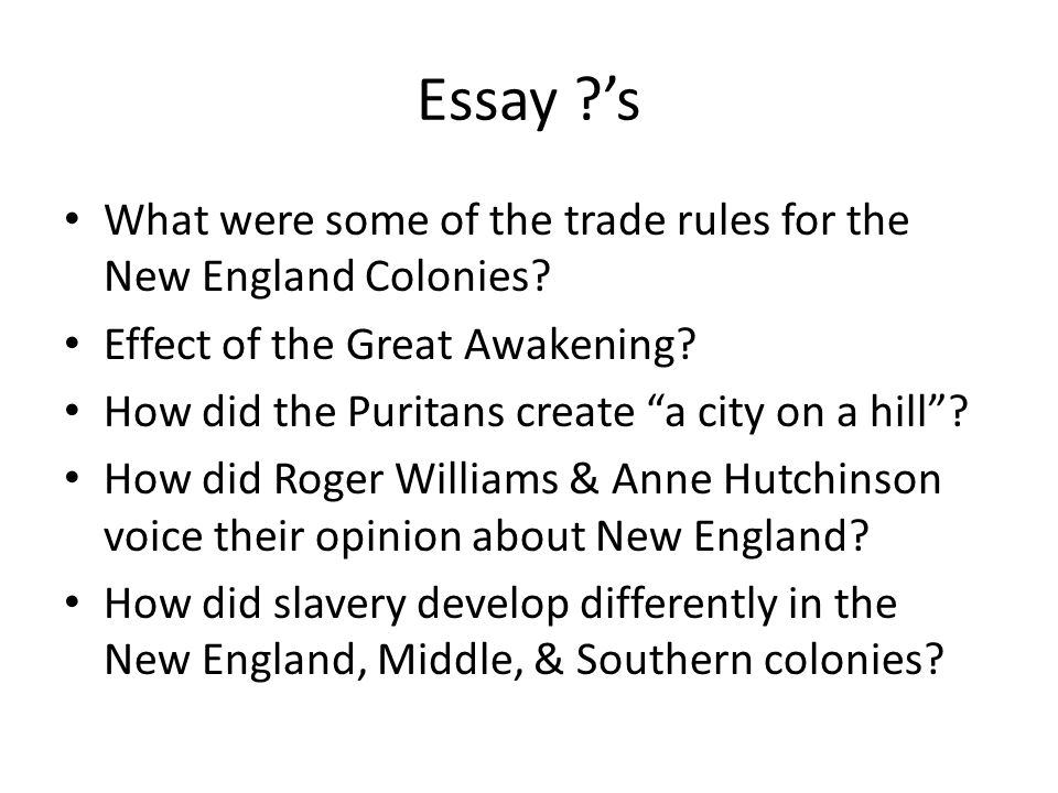 13 colonies and their establishment essay Start studying history essay did geography affect the 13 colonies learn vocabulary, terms, and more with flashcards, games, and other study tools.