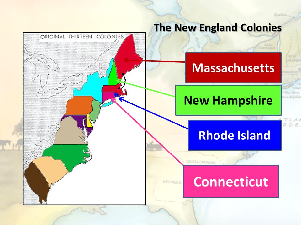 the new england colonies and the United states - the new england colonies: although lacking a charter, the  founders of plymouth in massachusetts were, like their counterparts in virginia,.