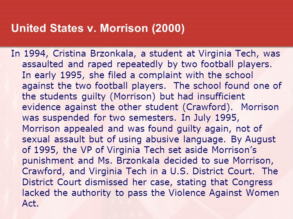 United States v. Morrison (2000)