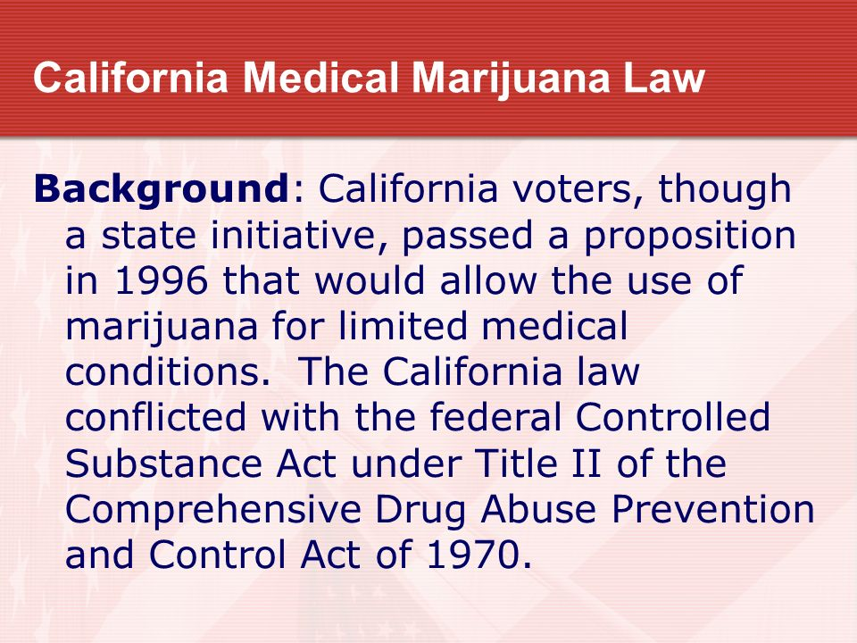 California Medical Marijuana Law