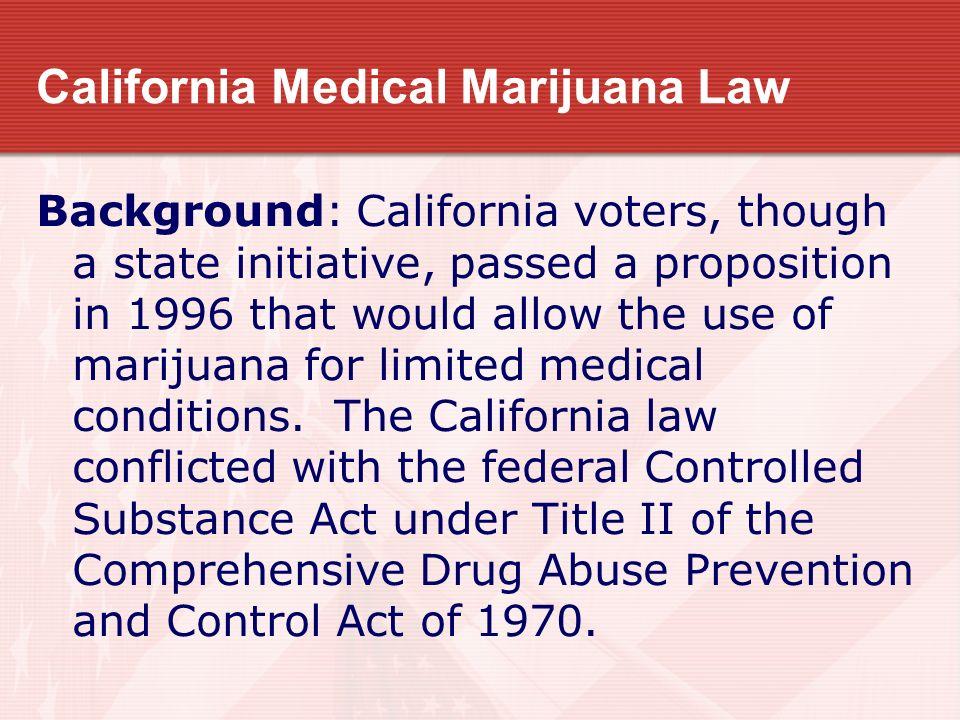 California Medical Marijuana Law
