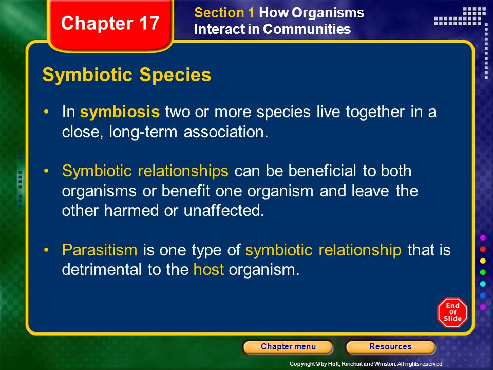 Chapter 17 Symbiotic Species