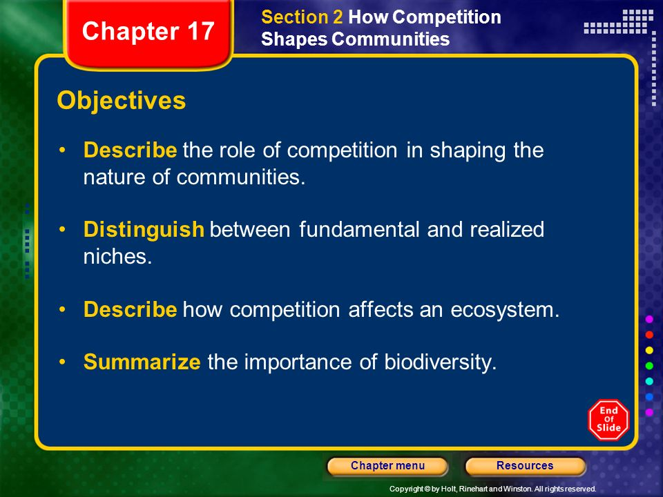 Section 2 How Competition Shapes Communities