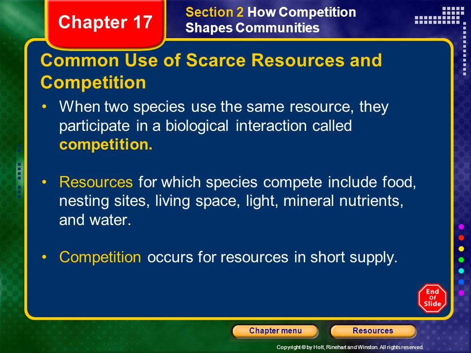 Common Use of Scarce Resources and Competition