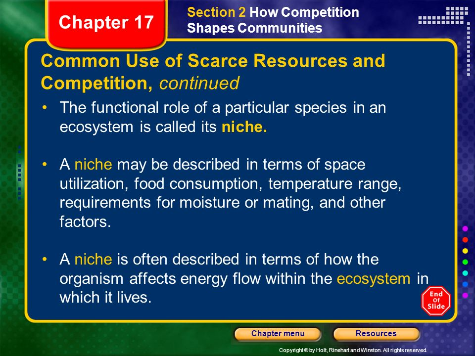 Common Use of Scarce Resources and Competition, continued
