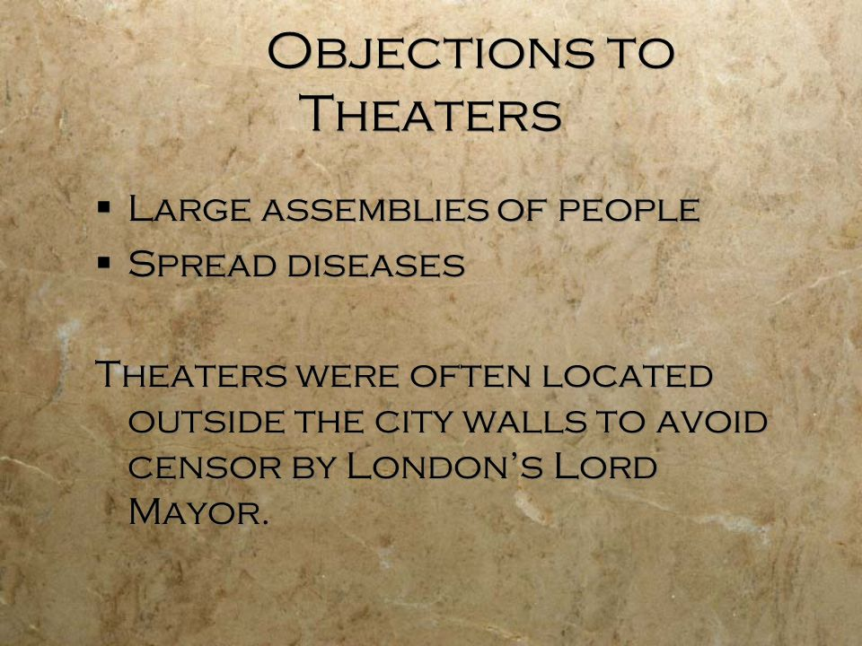 Objections to Theaters