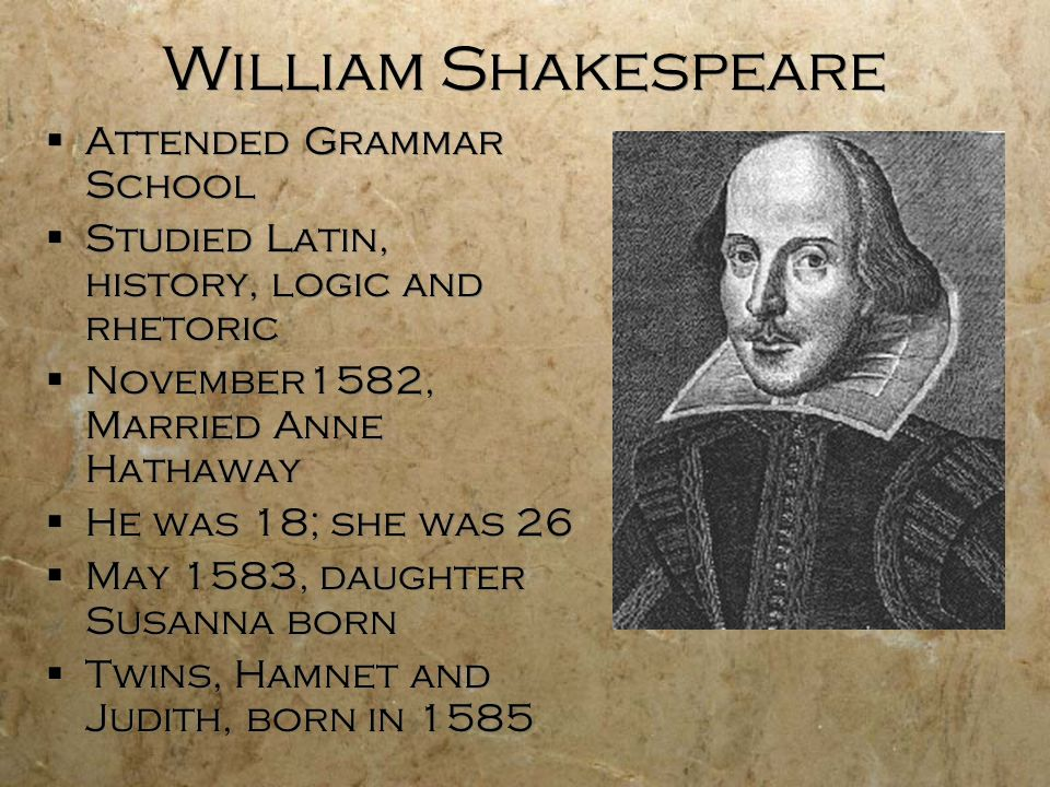 William Shakespeare Attended Grammar School