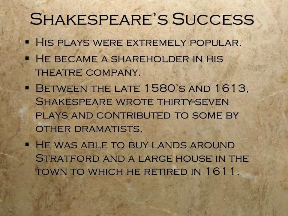 Shakespeare's Success