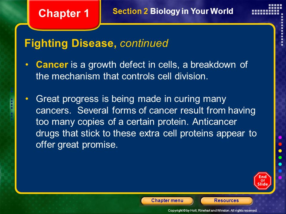Fighting Disease, continued