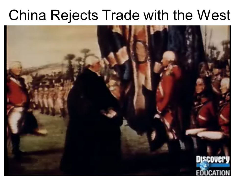 China Rejects Trade with the West